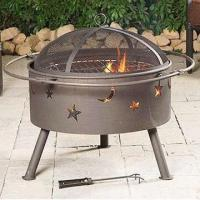 Cheap Outdoor Fire Pit, Lid with Black Powder Coating for sale