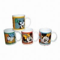 Cheap Ceramic Mugs, Available in Various Designs, Dishwasher/Microwave Safe for sale