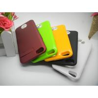 Cheap Brown Durable IPhone 5 External Battery Case Ultra-thin for Polymer-Li Battery wholesale
