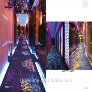 Cheap Nylon material blue color glow cut pile carpet for hallway for sale