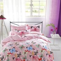 Cheap Modern Home Bedroom 4 Piece Bedding Sets 100% Cotton Tancel Material Butterfly Design for sale