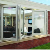 Cheap Double panel folding glass windows prefabricated windows and doors for sale