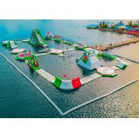 Cheap Seaside Resort Inflatable Water Park , Sea Floating Water Park With 2 Years Warranty for sale