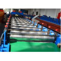 China 18 stations Glazed Tile Roll Forming Machine / Roof Panel Roll Forming Machine 5.5KW on sale