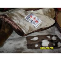 Cheap Custom Breathable Elastic Acrylic Mink Blanket Warmth For Home / Hotel for sale