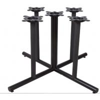 Quality Restaurant Dining Table Legs Round Metal Bar Table Base Black / Brown Colour wholesale