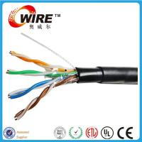 China waterproof cat5e outdoor solid bare copper 24 awg bulk wire ethernet cable on sale