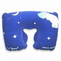 Cheap PVC Comfortable Neck Pillow with 100% Polystyrene Beads Filling, Available in Various Colors for sale