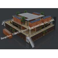 Cheap Customised Modular Prefab Container House For Shopping Center Or Coffee Bar for sale