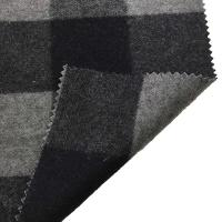 Cheap 5.5cm Checked Fake Tartan Wool Fabric / Melton Wool Fabric For Fashion Coat for sale