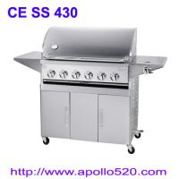 Cheap 6Burner BBQ on Cart with side burner for sale
