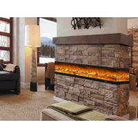 Cheap Iron Panel Wall Mounted Electric Fireplace , Flame Fireplace Heaters 750-1500 watts for sale