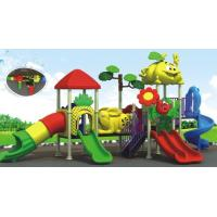 China beautiful daycare outdoor equipment plastic outdoor playground equipment on sale