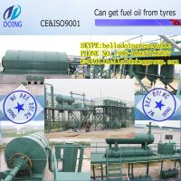 China waste tyre to crude oil machine waste tyre/plastic to fuel oil on sale