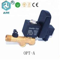 Cheap Brass Water Solenoid 0.2~1.6Mpa , High Pressure Air Auto Drain Valves With Timer for sale