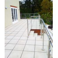 Cheap Terrace Glass Railing/ Glass Balustrade with Stainless Steel Post for sale