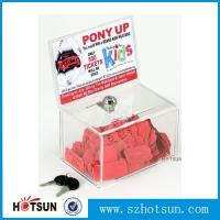 Cheap Acrylic Comment/Donation /Collection/Ballot Box with Brochure Pocket and Lock for sale