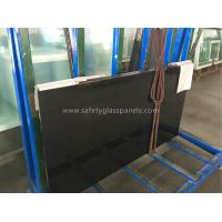 Cheap 3 - 5 MM Toughened Frameless Tempered Glass Fence Panels Resist Shock / Burglary wholesale