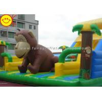 Cheap Customized Inflatable Fun City Giant Monkey Bouncer With Slide For Animal Amusement Park for sale