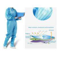 Cheap Antivirus Disposable Medical Protective Clothing , Medical Protective Coverall for sale