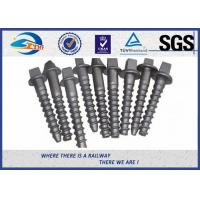 Cheap Custom Railroad Screw Spikes Q235 Concrete Sleepers Grade 5.6 for sale