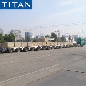 Cheap TITAN 12 Axles 100-200 tons Capacity Goldhofer Modular Trailer for sale