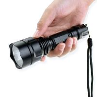 Cheap 5W 200m Zoomable Tactical Flashlight 2200mAh 18650 Rechargeble Battery for sale