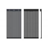 Cheap Lightweight LED Curtain Display For Media Facade Advertising High Transparent Rate for sale