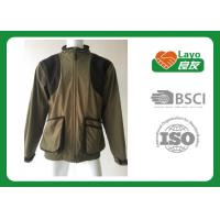 Cheap 100% Polyester Olive Color Fleece Hunting Jacket For Hunting / Hiking / Camping for sale