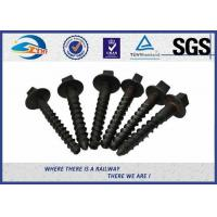 Cheap ZhongYue rail screw spikes railway fasteners 4.6, 5.6,8.8,10.9 grade for sale