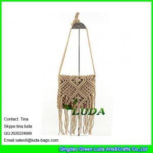 Cheap LDMX-006 cotton beach bag 2016 fashion brown straw bag mini shoulder bag for sale