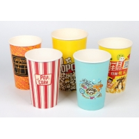 China 16oz Double Wall Movie Theater Disposable Paper Popcorn Buckets on sale