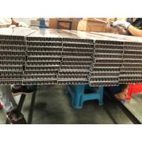 China Flat Oval Aluminum Radiator Tube With Aluminum Fin Inside For Charge Air Cooler on sale