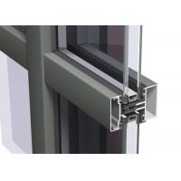 Cheap Easy Cleaning Curtain Wall Aluminium Profiles , Unitised Curtain Wall GB Certified for sale