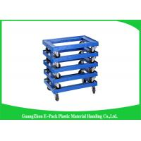 Cheap 4 Wheels Heavy DutyPlastic Moving Dolly Big Capacity Long Service Life 612 * 412 * 145mm for sale