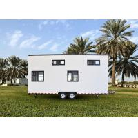 Cheap Completely Finished Modern Mobile House Prefab Light Gauge Steel Tiny House On Wheels With Trailer for sale