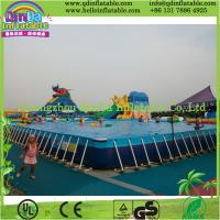 China Outdoor Intex Metal Frame Playground Swimming Above Ground Pool on sale