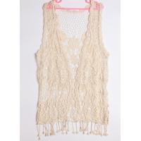 Cheap Cotton crochet waistcoat with tassels hollow out top for Spring for sale