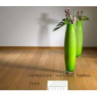 China Solid Carbonized Vertical Bamboo Floor on sale