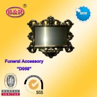 Cheap Zamak frame D057 Coffin Fitting gold color plate frame for funeral for sale