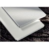 China custom Perforated Metal Ceiling Tiles panels E shaped For Drop Down Ceiling , Hook on on sale