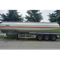 Cheap 40000 Liters Liquid Tank Trailers Anti - Corrosion Ellipse Or Round Shape for sale