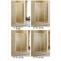 Cheap Double Swing / Folding Shower Door Enclosures Polished Aluminum Rectangle Frame for sale