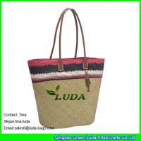 Cheap wholesale lady seagrass straw scout beach bags for sale