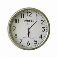 Cheap Radio-controlled wall clock(RCC), made of metal for sale