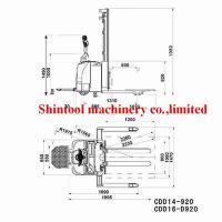 Quality 1.4T Electric Pallet Stacker PU Wheel With 3000mm Standard Lift Height wholesale
