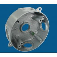"""Buy cheap 4"""" Round Waterproof Electrical Box With 5 Outlet Holes Aluminum Die Cast from wholesalers"""
