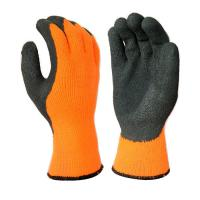 Buy cheap L1306 10 Gauge Hi-Viz Orange Acrylic Liner, with Black Latex Palm Coating, from wholesalers