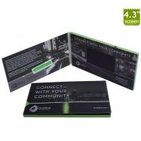 China Hot AVI format 4.3 inch video brochure / Invitation video greeting card / lcd video book with 128Mb memory on sale