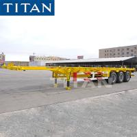 Cheap TITAN Skeleton Semi-Trailer For Carry Container Transportation for sale